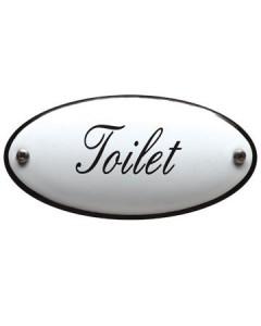 emaille naamplaatje gebold toilet 10x5cm
