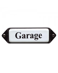 emaille naamplaatje oor garage 8x3cm