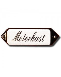 emaille naamplaatje oor schuinschrift meterkast 8x3cm
