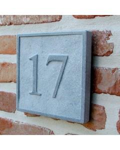 natuursteen huisnummer square1 15x15cm