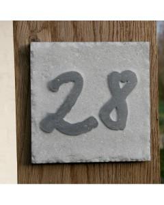 natuursteen huisnummer square5 15x15cm