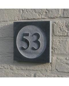 natuursteen huisnummer style2 18x18cm