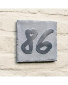 natuursteen huisnummer style6 18x18cm
