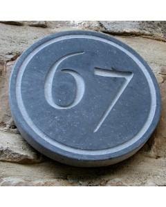 natuursteen huisnummer rondo diam. 18cm