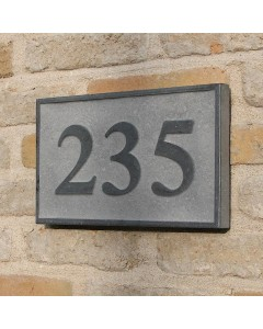natuursteen huisnummerbord board9 25x15cm