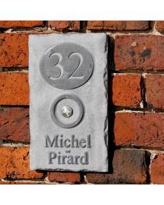 natuursteen naambord fairgate4 15x25cm