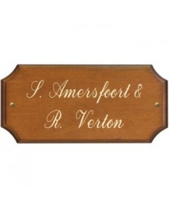 houten naambordje 29x15cm